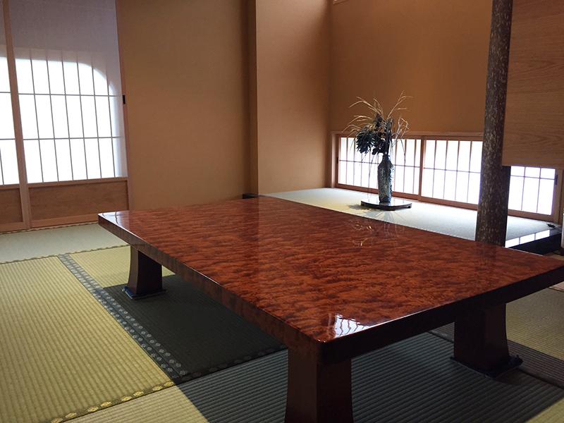 一枚板ブビンガの座卓