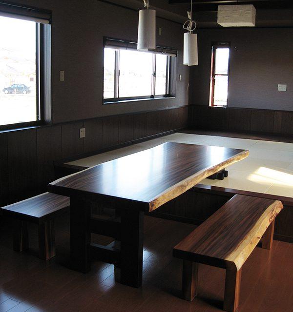 一枚板 モンキーポッド ダイニングテーブル