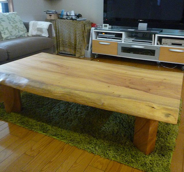 一枚板 楠の座卓テーブル