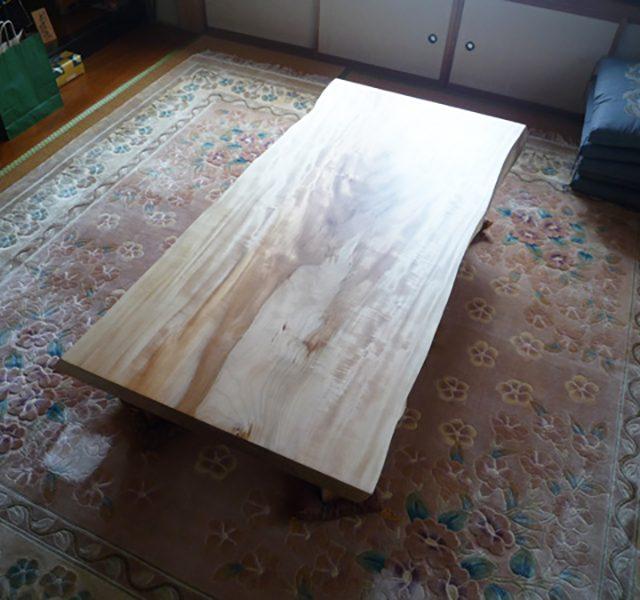 一枚板 栃の座卓テーブル