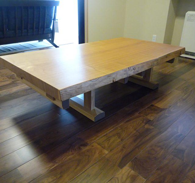 一枚板 タモの座卓テーブル