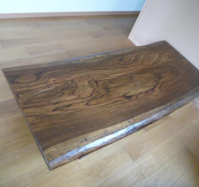 一枚板テーブル ゼブラ