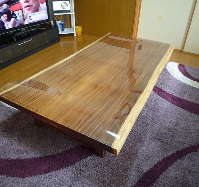 一枚板 モンキーポッドテーブル