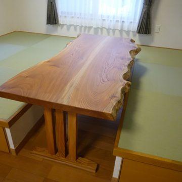 欅のダイニングテーブル
