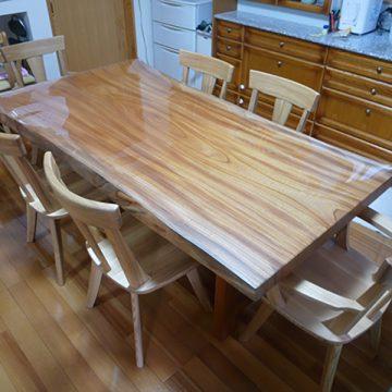 一枚板 欅ダイニングテーブル