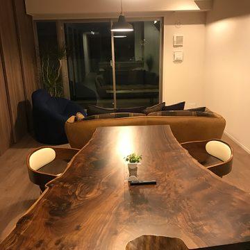 一枚板 クラロウォルナットテーブル