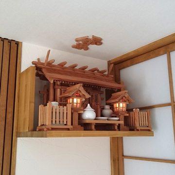 欅の神棚 お社 神殿