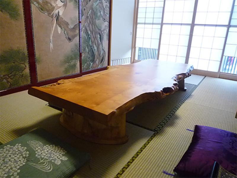 一枚板座卓テーブル 銀杏