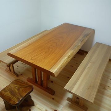 一枚板テーブル 欅(けやき)