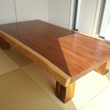 一枚板モンキーポッド座卓