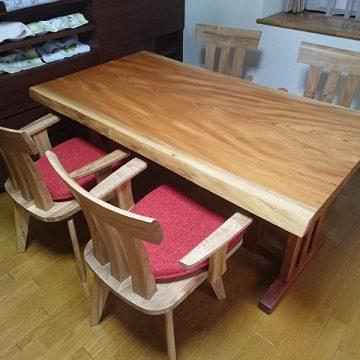 ダイニングテーブル 欅一枚板