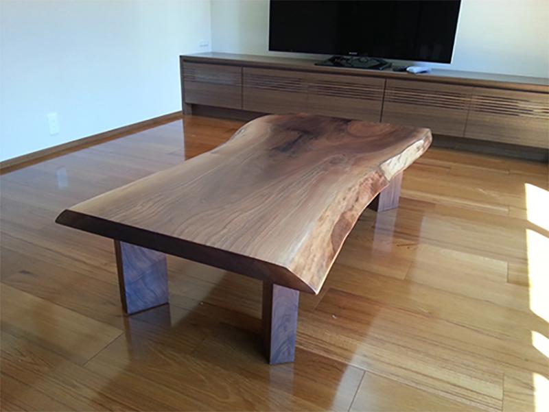 一枚板ウォールナット リビングテーブル