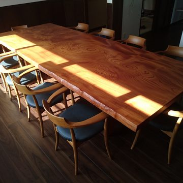 一枚板ケヤキテーブル