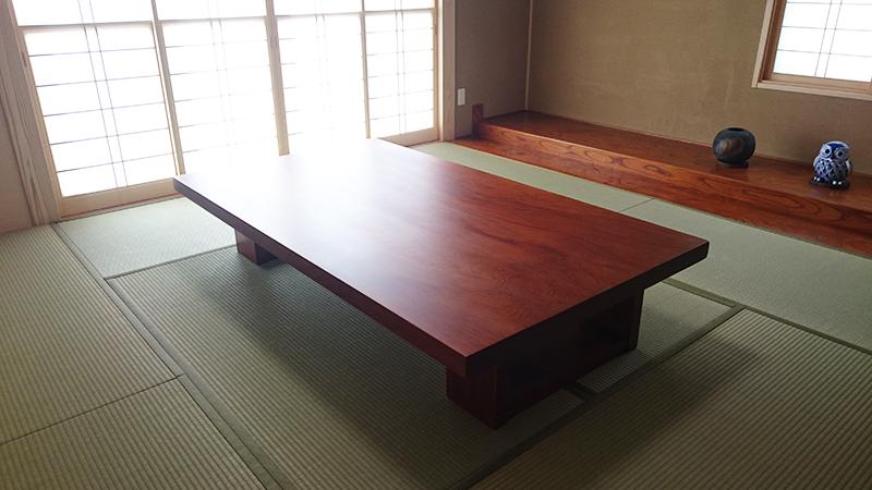 一枚板テーブル セコイアスギ
