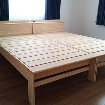 天然木 ヒノキのスノコベッド