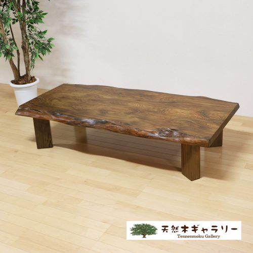 一枚板テーブル 神代杉 4本脚付