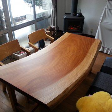 一枚板ダイニングテーブルセット 欅