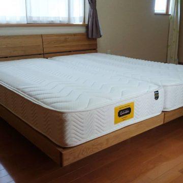 天然木無垢ベッド オーク材