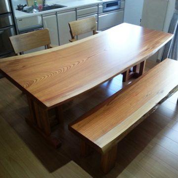 欅 一枚板 ダイニングテーブル