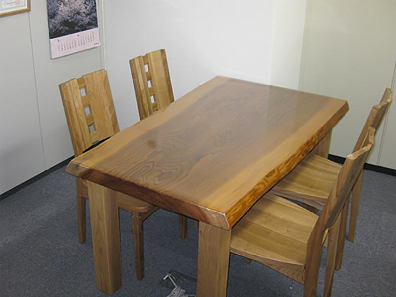 杉 一枚板 テーブルセット