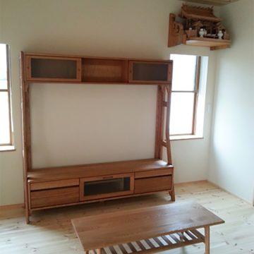 タモ材 TVボード センターテーブル