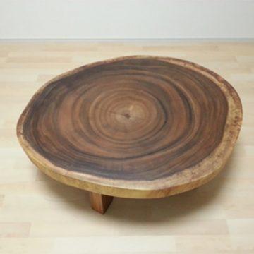 モンキーポッド 輪切りテーブル