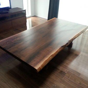 ウォールナット 一枚板テーブル