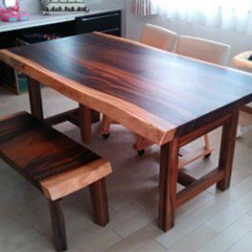 モンキーポッド テーブル ベンチ