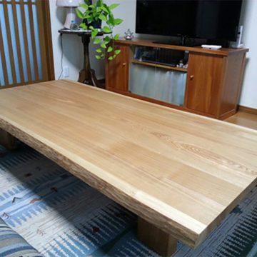 タモ材 テーブル