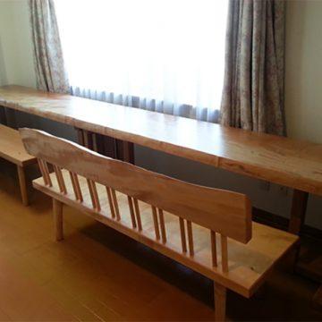 栃 ダイニングテーブル