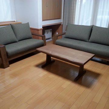 天然木 ソファ センターテーブル