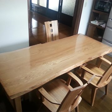 栗 天然木テーブル