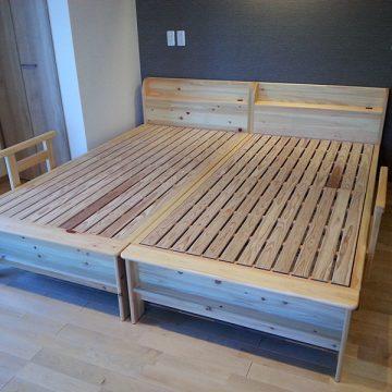 ヒノキ材 ベッド