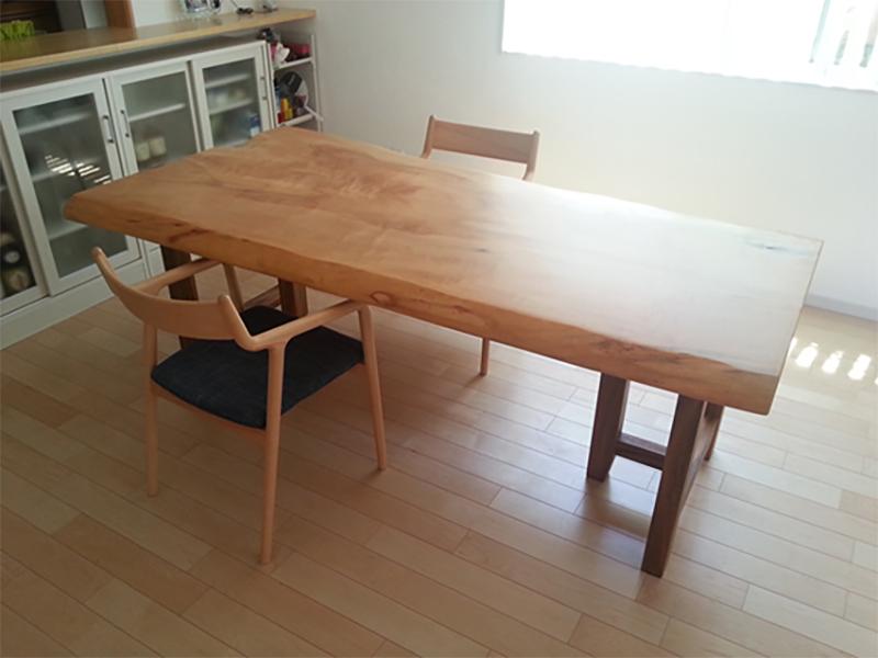 栃 一枚板ダイニングテーブル