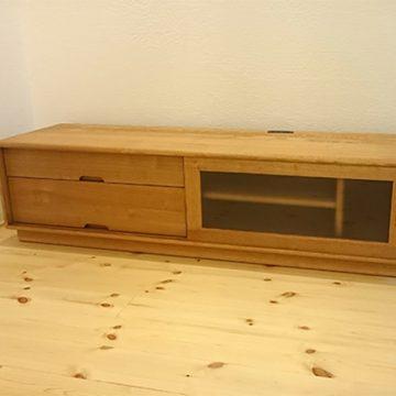 天然木タモ テレビボード