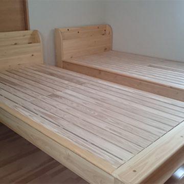 天然木ヒノキ ベッド