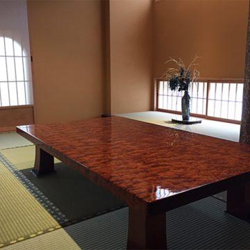ブビンガ 一枚板テーブル