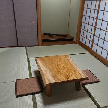 一枚板 欅座卓