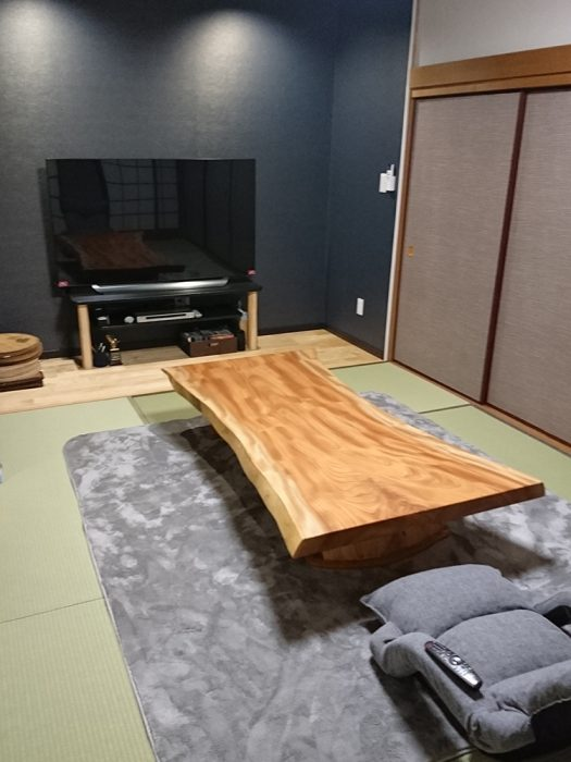 一枚板 欅 座卓
