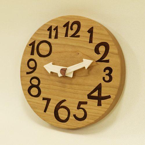 木の時計 conma ブラックチェリー