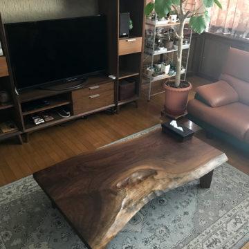 一枚板ウォルナットテーブル