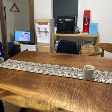 一枚板ダイニングテーブル ブラックウォールナット