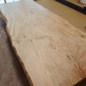栃の一枚板座敷テーブル