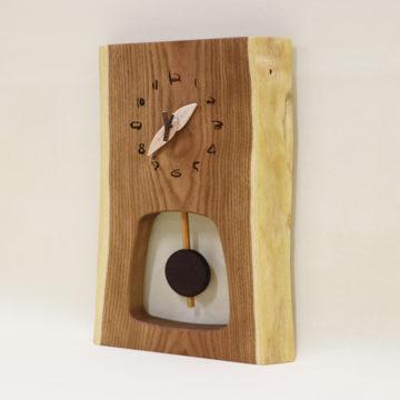 森の振り子時計 一枚板