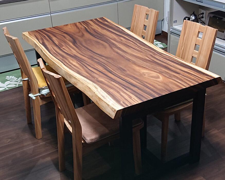 一枚板モンキーポッドテーブル