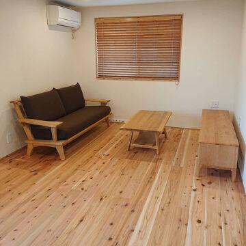 天然木の家具 テレビボード ソファ