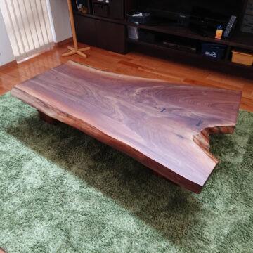 一枚板 ブラックウォルナット テーブル