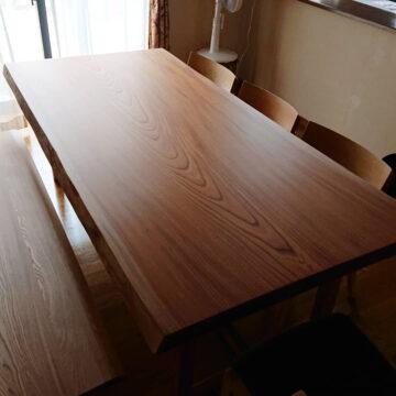 欅 一枚板ダイニングテーブルセット