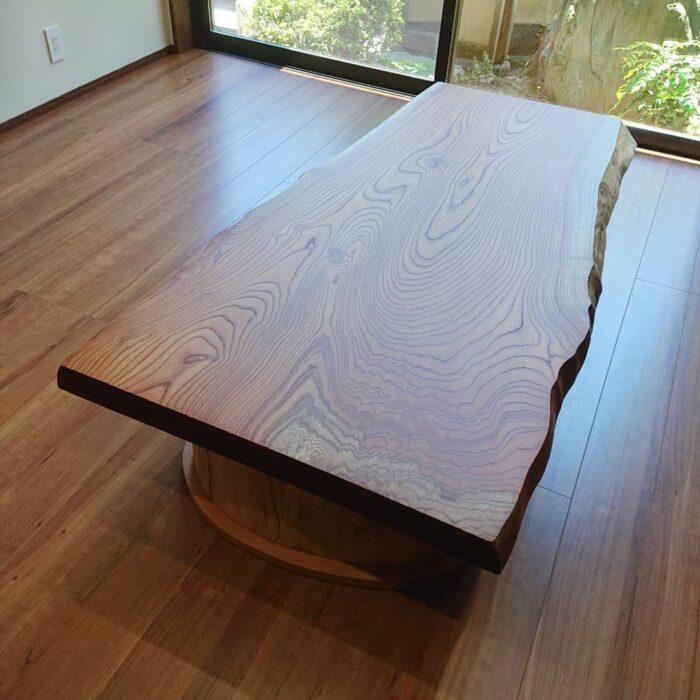 欅 一枚板テーブル 座卓
