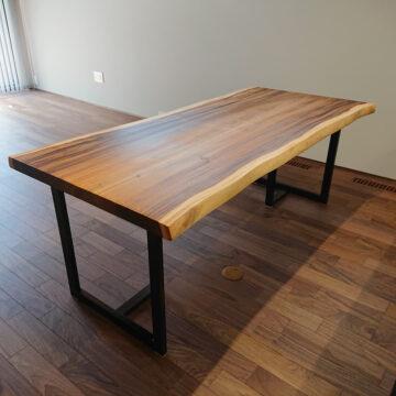 一枚板モンキーポッドダイニングテーブル